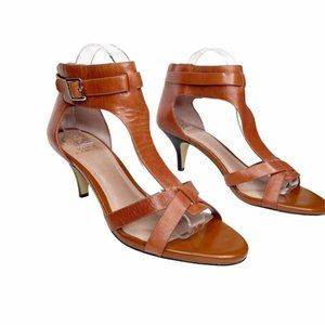 Vince Camuto leather ankle strap heeled sandal